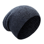Pinzhi Beanie hat Baggy Slouch Style Hip-Hop Warm Winter Caps Dark Grey