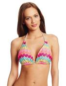 Luli Fama Women's D Cup Triangle Halter Bikini Top