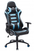 ProHT Throttle Racing Style Chair (05186A) 180 Degree High Back Adjustment Gaming Chair, Ergonomic Office Computer Swivel Chair with Fixed Armrests for Manager/Gamers/Adults/Teenager, Lake Blue/Black