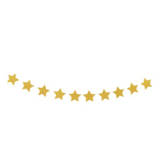 sourcingmap® EVA Star Shape Glitter Party Decoration DIY Craft Photo Prop Bunting Banner Gold Tone