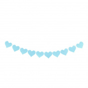 sourcingmap® Non-woven Fabric Heart Shaped DIY Party Decoration Photo Prop Bunting Banner