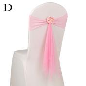 Kingko® 45cm Organza Sashes Chair Cover Bows Sash Wider Sash Fuller Bows for Wedding Anniversary Party Banquet Colour