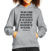 Nelson Mandela No One Is Born Quote Black Kid's Hooded Sweatshirt