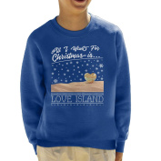 All I Want For Christmas Is Love Island Christmas Knit Pattern Kid's Sweatshirt