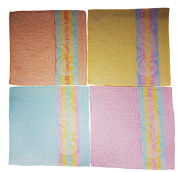 8 Piece Towel 100% Cotton 32 X 32 cm, Assorted Designs to Choose From, 100 % Cotton, Mehrfarbig Blume 3, 32 x 32 cm