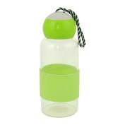 Outdoor Travelling Glass Screw Cap Juice Tea Water Bottle Holder Cup Green 280ml
