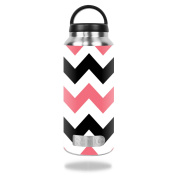 MightySkins Protective Vinyl Skin Decal for RTIC 1060ml Bottle wrap cover sticker skins Black Pink Chevron