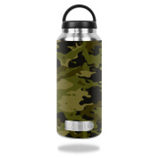MightySkins Protective Vinyl Skin Decal for RTIC 1060ml Bottle wrap cover sticker skins Green Camouflage