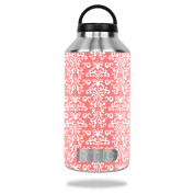MightySkins Protective Vinyl Skin Decal for RTIC 1890ml Bottle wrap cover sticker skins Coral Damask