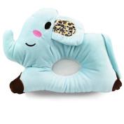 DaoRier Lovely Elephant Soft Velvet Filled with Cotton Memory Pillow for Baby, 25×19cm