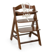 Hauck Alpha+ Wooden Height Adjustable Highchair with 5 Point Harness - natural