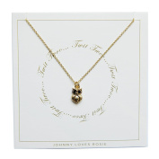 Johnny Loves Rosie Owl Gift Card Women Chain Necklace of Length 48cm 5055632018089