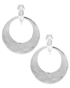 Jewellery Ant Hony Lightweight High Quality Silver Plated Hoop Clip On Earrings Silver Tone 2.8 cm Through