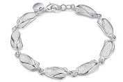 """8"""" or 19cm Silver Plated Polished Slipper Shoes Chain Bracelets Jewellery Present Gift"""