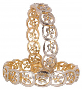 Ethnic Amazing Style Gold Plated Indian Bangle Partywear Jewellery