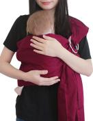 Vlokup(TM) Wrap Original 100% Cotton Adjustable Baby Carrier Infant Lightly Padded Ring Sling Wine