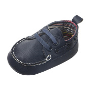 Fuibo Children Boys Girls Flat Shoes Christmas Gift For Kids Newborn Infant Baby Double Soft Sole Slip-On Leather Single Casual Flats Shoes