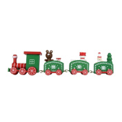 squarex Christmas Wooden Car Decoration Child Christmas Gift Small Train Desktop