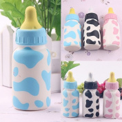 timeracing Fashion Cute Kids Feeding Bottle Squishy Toy Milk Cow Print Scented Children Playset