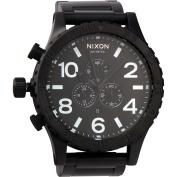 Nixon Men's 51-30 A083001 Black Stainless-Steel Analogue Quartz Watch