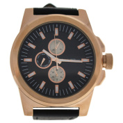 LVAG3733-2 Rose Gold/Brown Leather Strap Watch