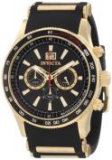 Invicta Men's 1236 Aviator Chronograph Black Dial Black Polyurethane Watch