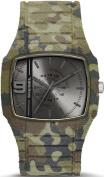 Men's Army Camouflage Demin Diesel Trojan Silicone Band Watch DZ1671