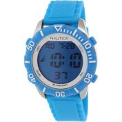 Nautica Men's Nsr 100 N09929G Digital Rubber Quartz Watch