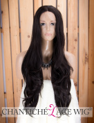 Chantiche Black Lace Front Wig Realistic Looking Wavy Synthetic Wigs for Women Half Hand Tied Long Hair Wig 60cm