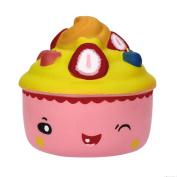 Kobay 9.5cm Cute Cake Squishy Slow Rising Cartoon Doll Cream Scented Decompression Toy