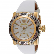 Glam Rock Women's Miami 46mm White Leather Band Gold Plated Case Swiss Quartz Analogue Watch GR10507