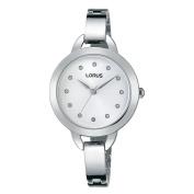 Lorus Women's 30mm Steel Bracelet & Case Quartz Silver-Tone Dial Analogue Watch RG229KX9