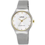 Lorus Women's 30mm Steel Bracelet & Case Quartz White Dial Analogue Watch RG277JX9