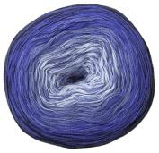 Woolly Hugs Bobbel Cotton Colour 24 - mare, 200g Bobbel with long Degradé - Colour gradient