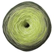Woolly Hugs Bobbel Cotton Colour 25 - pesto, 200g Bobbel with long Degradé - Colour gradient