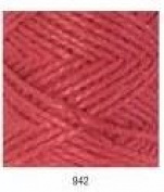 Mondial Jute 100% Natural 100g Colour 942 Red