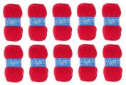 Lot 10 Balls of Wool 100% Acrylic Knitting Yarn – Red Hook – Azurite 156