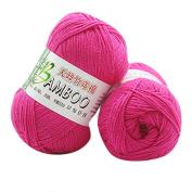HUHU833 New 100% Bamboo Cotton Warm Soft Natural Knitting Crochet Knitwear Wool Yarn 50g