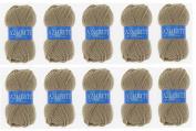 Lot 10 Balls of Wool 100% Acrylic Knitting Yarn Hook – Azurite – 512 Brown