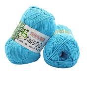 HLHN Bamboo Cotton Warm Soft Natural Knitting Crochet Knitwear Wool Yarn 50g