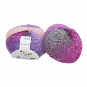 HLHN 50g Chunky Hand-woven Rainbow Colourful Knitting Scores Wool Blend Yarn