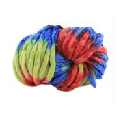 Xshuai 1Pcs 250g Wool Yarn Super Soft Bulky Arm Colourful Knitting Wool Roving Crocheting DIY Homemade Craft
