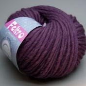Lana Grossa Feltro Felt Yarn 039 Crushed Violets Wool 50 g