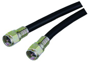 Arista 58-921 Weatherproof Coaxial Cable, 7.6m, Black