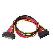 Amazingdeal SFF-8482 29Pin SAS Male to SFF-8482 29Pin SAS Female Port Adapter Cable