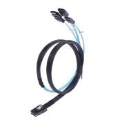 Amazingdeal Mini SAS 36Pin SFF-8087 Port to 4 SATA Ports SATA HDD SSD Adapter OFC Cable