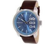 Diesel Men's Not So Basic Leather Quartz Watch - Brown