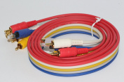 Professional 1.4m Gold Flat 5 Way AV Cable, SVHS, Optical, Phono, Audio, Video