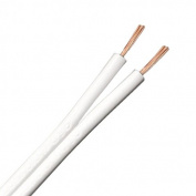 Zexum 1350 13 Strand 2 Core Figure of 8 Speaker Cable for Surround Sound Hifi Car Audio System, White, 5 m