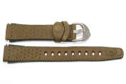 Timex 18mm Olive Green Leather Watch Band TX247781